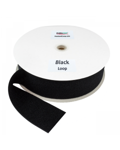 "3"" - DuraGrip Brand Sew-On Loop - Black DG30BLLS"