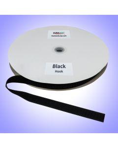 "3/4"" - DuraGrip Brand Sew-On Hook - Black DG34BLHS"