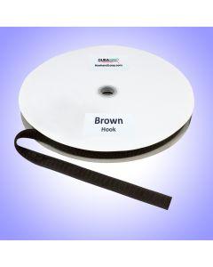 """3/4"""" - DuraGrip Brand Sew-On Hook - Brown DG34BRHS"""