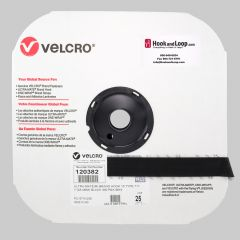 "1"" - Velcro® brand Ultra-Mate® Hook 711 Pressure Sensitive Adhesive HTH: Rubber - Black 120382"