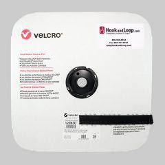 "1"" Black Velcro MVA8 Hook Acrylic Pressure Sensitive Adhesive 120930"