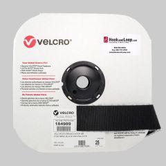 "2"" - Velcro® brand Pressure Sensitive Adhesive Hook: Rubber - Black 184989"