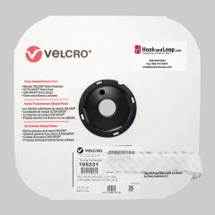"1"" - Velcro® brand Pressure Sensitive Adhesive Loop: Rubber - White 185231"