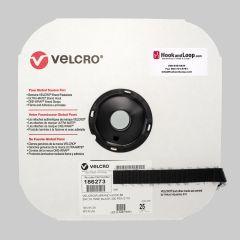 "3/4"" - Velcro® brand Pressure Sensitive Adhesive Hook: Rubber - Black 186273"