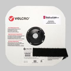 "1.5"" - Velcro® brand Pressure Sensitive Adhesive Loop: Rubber - Black 186650"