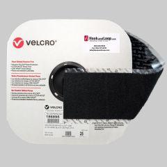 "4"" Black Velcro Loop PS-15 Rubber Pressure Sensitive Adhesive"