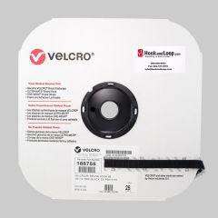"1/2"" - Velcro® brand Pressure Sensitive Adhesive Hook: Rubber - Black 188755"