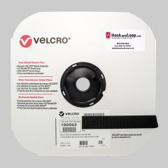"1"" - Velcro® brand Sew-On Hook - Black 190562"