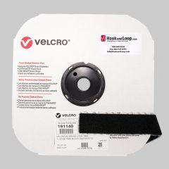 "1.5"" - Velcro® brand Pressure Sensitive Adhesive Loop: Acrylic - Black 191140"