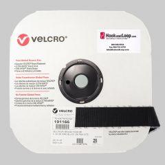 "1.5"" - Velcro® brand Pressure Sensitive Adhesive Hook: Acrylic - Black 191166"