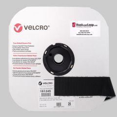 "2"" - Velcro® brand Pressure Sensitive Adhesive Hook: Acrylic - Black 191245"