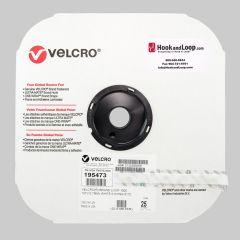 "1/2"" - Velcro® brand Pressure Sensitive Adhesive Loop: Acrylic - White 195473"