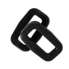 "5/8"" - DuraGrip brand Plastic Rectangular Rings - Black BN401-0058-BLAC"