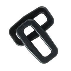 "3/4"" - DuraGrip brand Plastic Rectangular Rings - Black BN401-0075-BLAC"