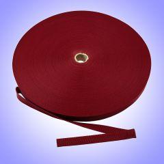 "1.5""  - DuraGrip brand Lightweight Polypropylene Webbing - Burgundy DG15BUWEBB-LW"