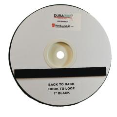 """1"""" DuraGrip Brand Black Hook to Loop - DG10BLHL"""