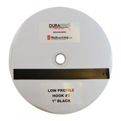 "1"" DuraGrip Brand Black Low Profile Hook 3 - DG10BLH3"