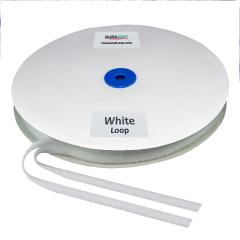 """1/2"""" - DuraGrip Brand Sew-On Loop - White DG12WHLS"""