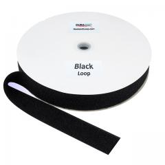 "1.5"" - DuraGrip Brand Sew-On Loop - Black DG15BLLS"