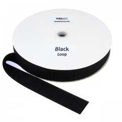 "1.5"" - DuraGrip brand Fire Retardant Loop - Black DG15BLLFRS"