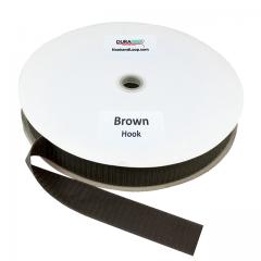 """1.5"""" - DuraGrip Brand Sew-On Hook - Brown DG15BRHS"""
