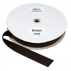 """1.5"""" - DuraGrip Brand Sew-On Loop - Brown DG15BRLS"""
