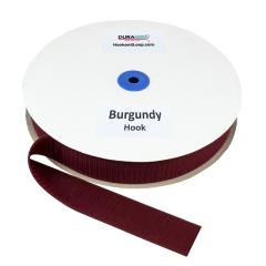 """1.5"""" - DuraGrip Brand Sew-On Hook - Burgundy DG15BUHS"""