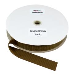 """1.5"""" - DuraGrip Brand Sew-On Hook - Coyote Brown DG15CBHS"""