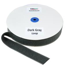 "1.5"" - DuraGrip Brand Sew-On Loop - Dark Gray DG15DGLS"