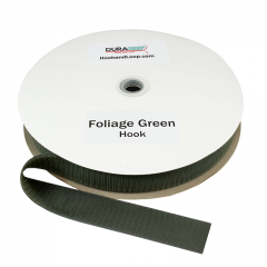 "1.5"" - DuraGrip Brand Sew-On Hook - Foliage Green DG15FGHS"