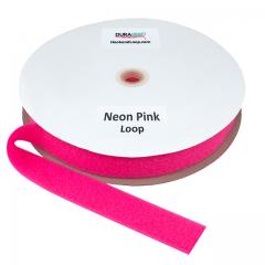 """1.5"""" - DuraGrip Brand Sew-On Loop - Neon Pink DG15NPLS"""