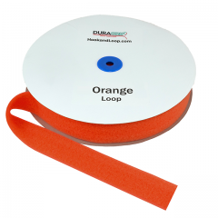 "1.5"" - DuraGrip Brand Sew-On Loop - Orange DG15ORLS"