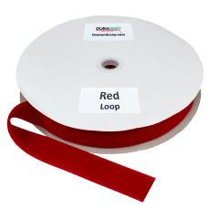 """1.5"""" - DuraGrip brand Sew-On Loop - Red DG15RDLS"""