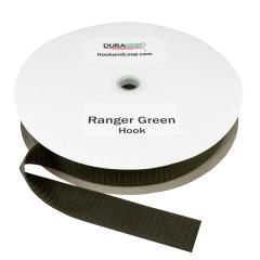 """1.5"""" - DuraGrip brand Sew-On Hook - Ranger Green DG15RGHS"""