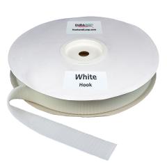 """1.5"""" - DuraGrip brand Peel & Stick Hook: Rubber - White DG15WHHR"""