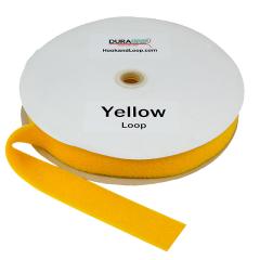 """1.5"""" - DuraGrip brand Sew-On Loop - Yellow DG15YWLS"""