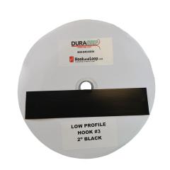 "2"" DuraGrip Brand Black Low Profile Hook 3 - DG20BLH3"