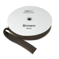 """2"""" - DuraGrip Brand Sew-On Hook - Brown DG20BRHS"""