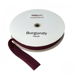 """2"""" - DuraGrip Brand Sew-On Hook - Burgundy DG20BUHS"""