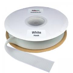 """2"""" - DuraGrip brand Peel & Stick Hook: Rubber - White DG20WHHR"""
