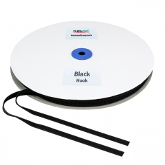 "3/8"" - DuraGrip Brand Sew-On Hook - Black DG38BLHS"