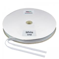 """3/8"""" - DuraGrip Brand Sew-On Loop - White DG38WHLS"""