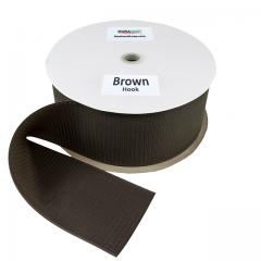 """4"""" - DuraGrip Brand Sew-On Hook - Brown DG40BRHS"""