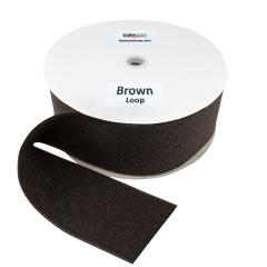 """4"""" - DuraGrip Brand Sew-On Loop - Brown DG40BRLS"""