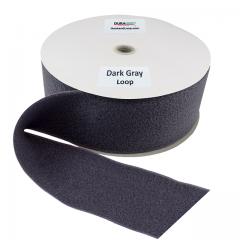 "4"" - DuraGrip Brand Sew-On Loop - Dark Gray DG40DGLS"