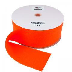 "4"" - DuraGrip Brand Sew-On Loop - Neon Orange DG40NOLS"