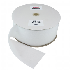 """4"""" - DuraGrip brand Sew-On Loop - White DG40WHLS"""