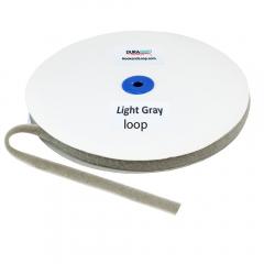 "5/8"" - DuraGrip Brand Sew-On Loop - Light Gray DG58LGLS"