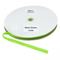 """5/8"""" - DuraGrip Brand Sew-On Loop - Neon Green DG58NGLS"""