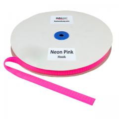 "5/8"" - DuraGrip Brand Sew-On Hook - Neon Pink DG58NPHS"